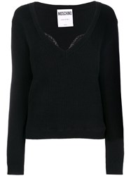Moschino Lace Detail Jumper Black