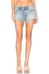 Free People Soft And Relaxed Cut Off Shorts Light Denim