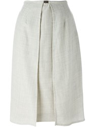 Jean Louis Scherrer Vintage Panelled Skirt Grey