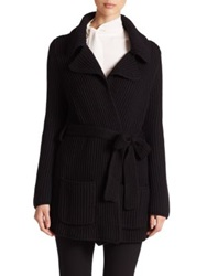 Goat Aspen Merino Wool Sweater Coat Black