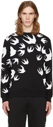 Mcq By Alexander Mcqueen Black Swallows Pullover