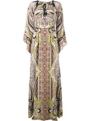 Etro Paisley Print Long Sleeve Dress Multicolour