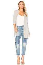 White Warren Long Cardigan Gray