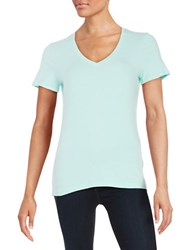 Lord And Taylor Petite Cotton Blend V Neck Tee Aries