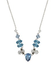 Judith Jack Cubic Zirconia Crystal Marcasite Spinnel And Sterling Silver Necklace