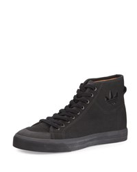 Raf Simons Spirit Canvas High Top Sneaker Black