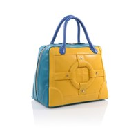 Homanz Shop Honor Satchel Bag Yellow And Blue
