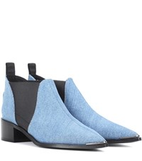 Acne Studios Jenny Denim Ankle Boots Blue