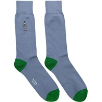 Paul Smith Grey Embroidered People Socks