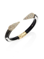 Alexis Bittar Titan Lucite And Crystal Cuff Bracelet Ash