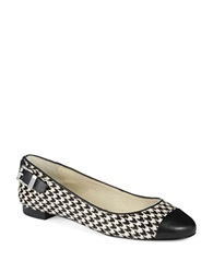 Michael Michael Kors Dion Houndstooth Flats Black
