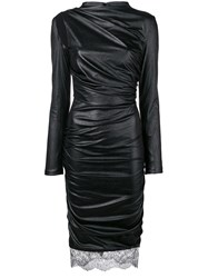 Tom Ford Faux Leather Fitted Dress Black