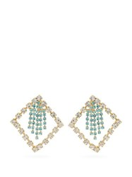 Rosantica By Michela Panero Divinita Crystal Embellished Earrings Green