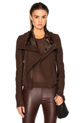 Rick Owens Classic Blister Biker Jacket In Brown