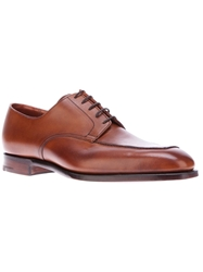 Crockett Jones Crockett And Jones 'Leeds' Apron Derby Shoe Brown