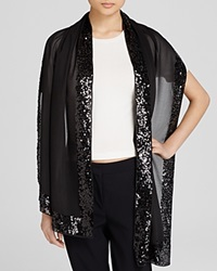 Aqua Sequin Scarf Black