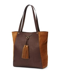 Frye Clara Leather Tote Dark Brown