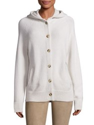 The Row Runi Cashmere Hooded Cardigan Bone