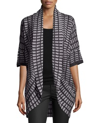 Neiman Marcus Striped Knit Cocoon Cardigan Heachargry
