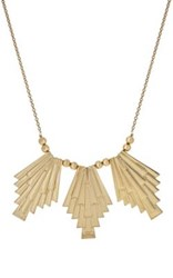 Jules Smith Designs Women's Sunburst Bib Necklace Gold