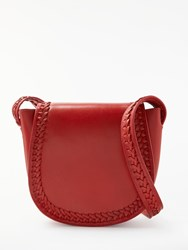 And Or Isabella Whipstitch Saddle Bag Red