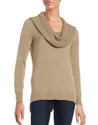 Michael Michael Kors Knit Cowlneck Sweater Brown