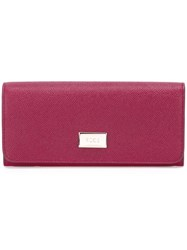 Tod's Textured Wallet Pink And Purple