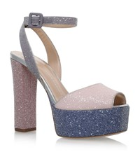 Giuseppe Zanotti Betty Glitter Platform Sandals 120 Female Light Pink