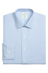 Brooks Brothers Big And Tall Trim Fit Houndstooth Dress Shirt Light Pastel Blue