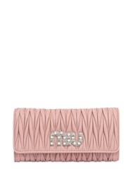 Miu Miu Quilted Leather Continental Wallet Pink