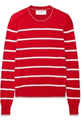 La Ligne Neat Striped Cotton Sweater Red