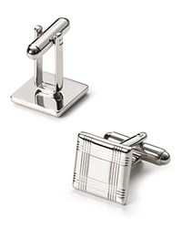 Bloomingdale's The Men's Store At Silver Tone Check Square Cufflinks