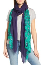 Kate Spade Women's New York Plume Tissue Weight Oblong Scarf