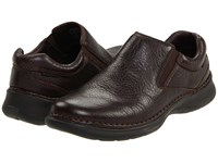Hush Puppies Lunar Ii Dark Brown Leather Slip On Shoes