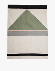 Louise Gray Throw Quilt No. 8 Rose Flax