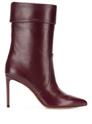 Francesco Russo Pointed Toe Boots Red