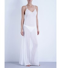 La Perla Maxi Sheer Beach Dress White