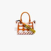 Heron Preston X Off White Collaboration Mini Pvc Tote Bag Yellow And Orange