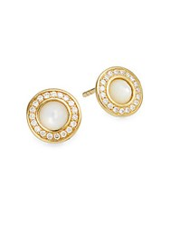 Ippolita Lollipop Diamond Mother Of Pearl And 18K Yellow Gold Stud Earrings