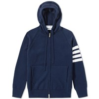 Thom Browne Arm Stripe Cashmere Hoody Blue