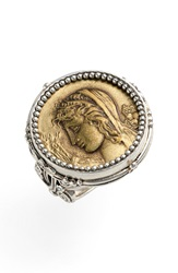 Konstantino 'Demeter' Coin Ring Silver Bronze
