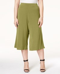 Ing Plus Size Gaucho Pants Olive Green