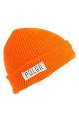 Men's Poler Stuff 'Worker Man' Beanie Orange Athletic Orange