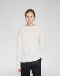 Acne Studios Dramatic Mohair Pullover Pearl White