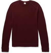 Massimo Alba Watercolour Dyed Cashmere Sweater Red