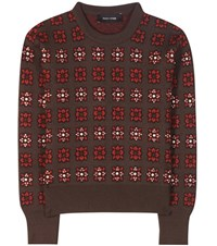 Each X Other Embellished Wool Blend Sweater Brown