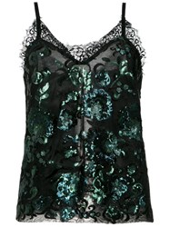 A La Garconne Sequin Embroidered Blouse Polyamide Polyester Viscose