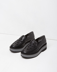 Robert Clergerie Ideal Platform Loafer Black