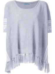Guild Prime Fringed Pattern Detail Tunic Grey