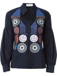 Peter Pilotto 'Olympia' Shirt Blue